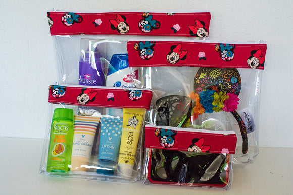 Travel Bag Set - Red Minnie Floral