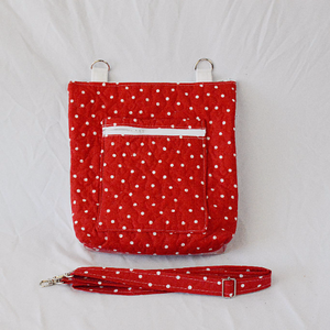 Quilted Convertible Purse - Red Polka Dots
