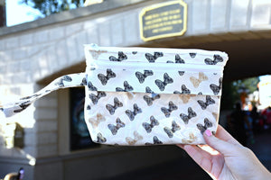 Touch Screen Wristlet - Black and Gold Bows