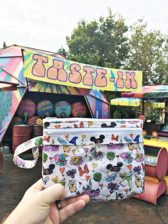 Disney doodles touch screen wristlet