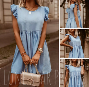 NEW- SWEET CHAMBRAY DRESS- PREORDER IS CLOSED