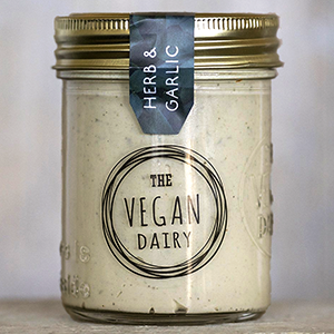The Vegan Dairy - Herb & Garlic Soft Cheese - The Vegan Cheese Shop