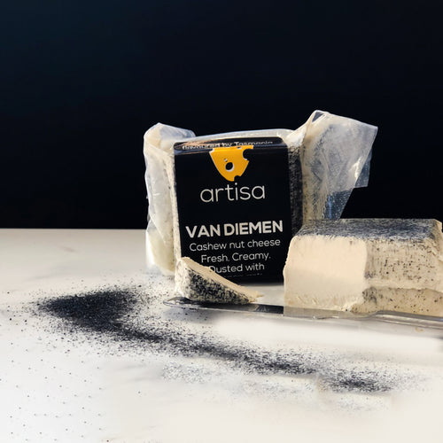 Artisa - Van Diemen - Cashew Cheese With Ash Dusting - The Vegan Cheese Shop