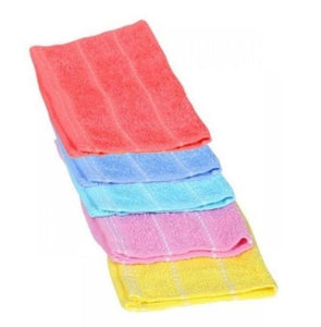 Home Connection 6Pcs Multicolored Hand Towels