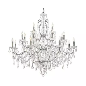 12 Light Chandelier Chrome Finish - Luciano