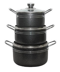 Master Chef 3 Pcs Non-stick Pot set - The RegistryNg™