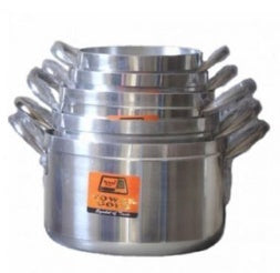 Pure Aluminum Cooking Pot Set - 5Pcs (Tower Delight)