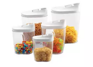 10 Piece Container Set With Easy Pour Lids
