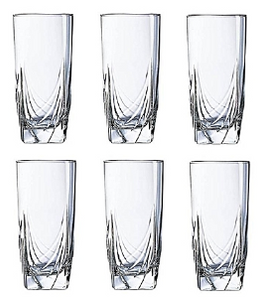 Glass Cup Set - 6 Pieces