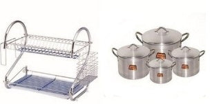Plate Rack And Pot Bundle