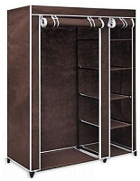 Universal Mobile Wardrobe With Wheels -(Brown) - The RegistryNg™