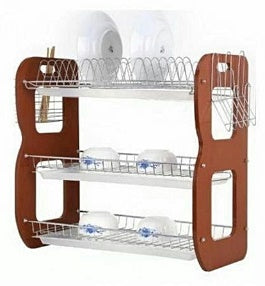 Dish | Plate Rack With Drainer - 3 Tiers