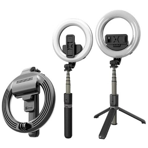 Selfie Stick Tripod and Ring Light