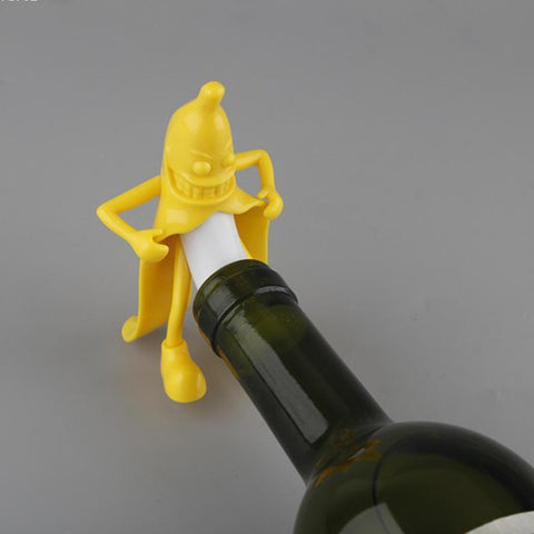 Mr Banana Wine & Champagne Bottle Stopper