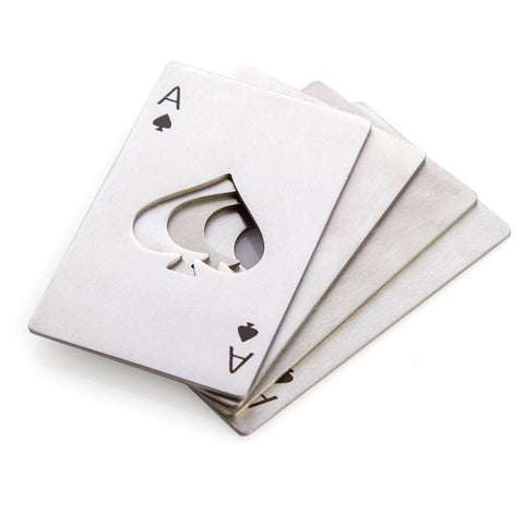 Ace of Spades Playing Cards Metal Credit Card Bottle Opener