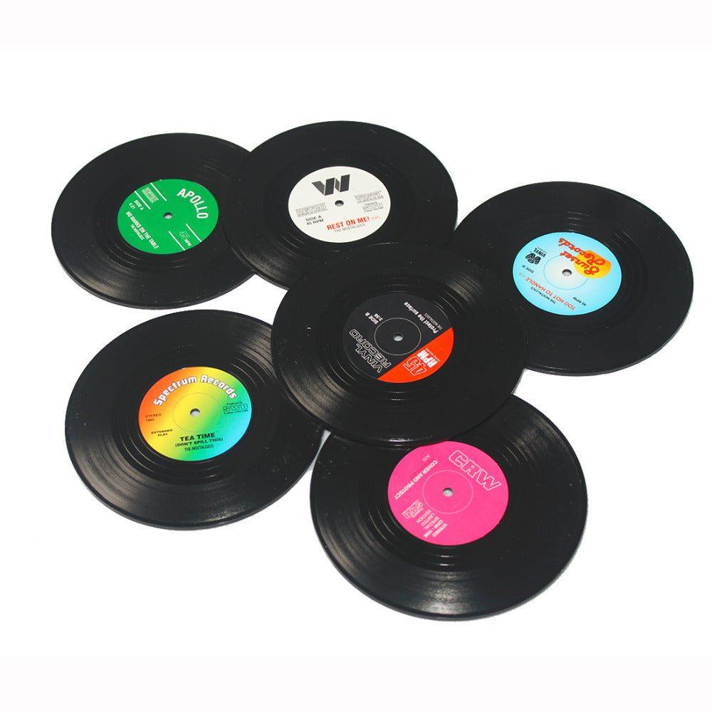 70s vinyl record coffee drink coasters giftwise 70s vinyl record coffee drink coasters geotapseo Images