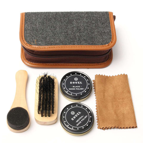 Luxury Travel Compact Shoe, Trainer & Boot Care Kit