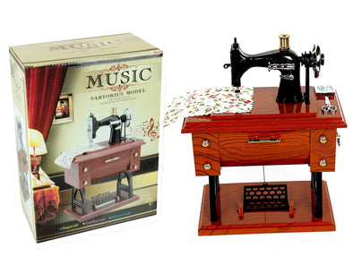 Generic Musical Sewing Machine Music Box Vintage Look