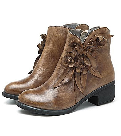 Fashion Bottines En Cuir Pour Femme