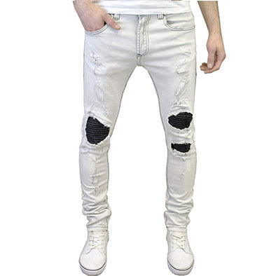 Fashion Mens Jeans Slim Fit Homme