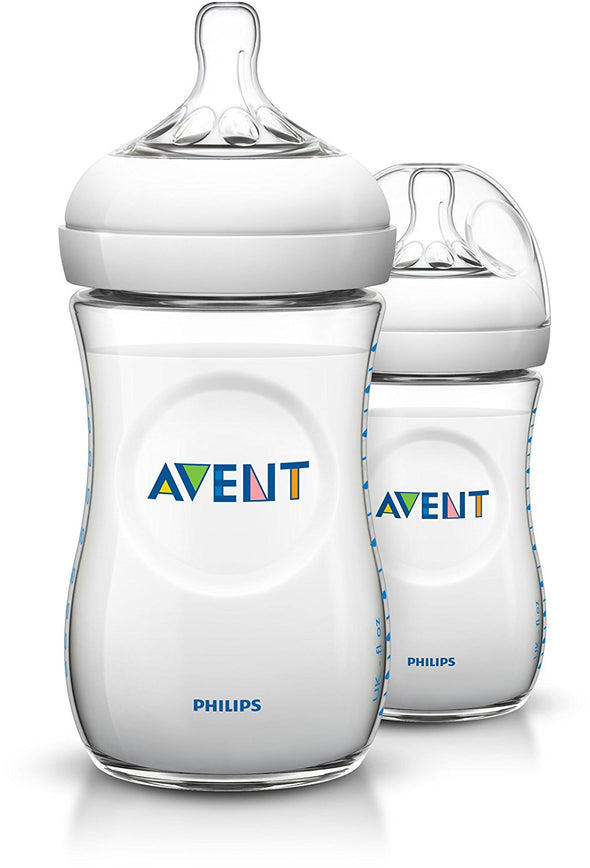 Philips Avent Biberons Natural bébé 260ml - Lot de 2