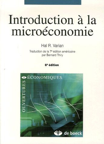 Introduction À La Microéconomie Hal-R Varian