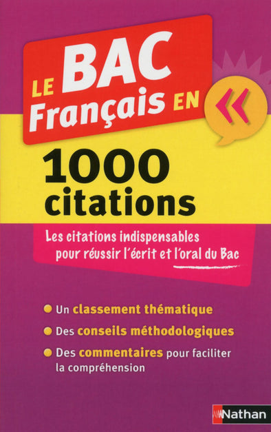 Le BAC Français en 1000 citations
