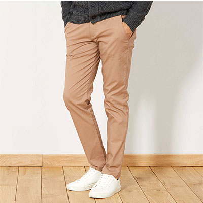 Pantalon chino slim en twill