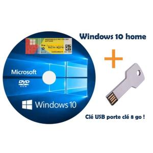 Windows 10 home DVD + usb 8g