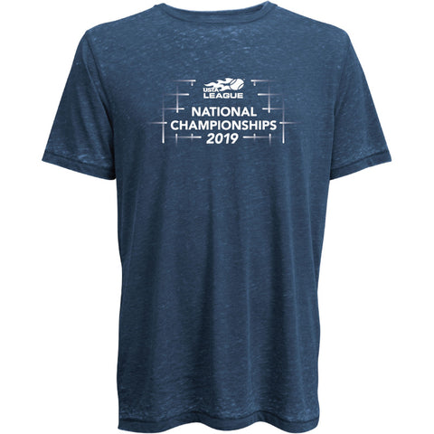 USTA LEAGUES 2019 NATIONAL CHAMPIONSHIPS LIFEGUARD SHORT SLEEVE BLUE T-SHIRT