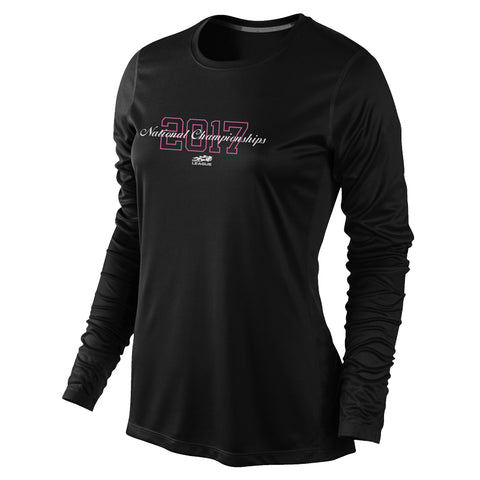 USTA LEAGUES 2017 National Championships Women's Black Long Sleeve Performance Tee
