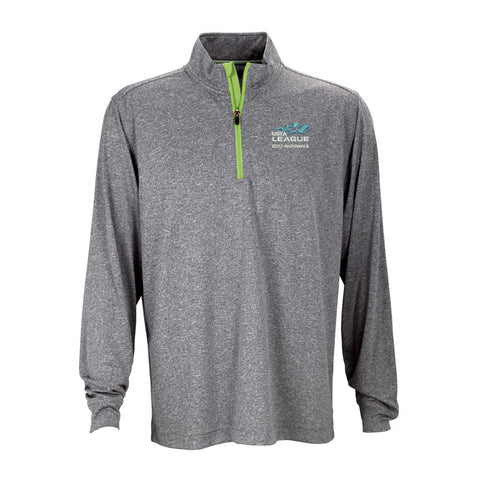 USTA LEAGUES 2017 National Championships Men's Grey Melange Vansport Quarter Zip Tech Pullover