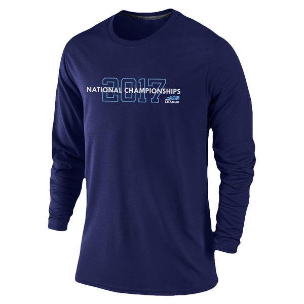 USTA LEAGUES 2017 National Championships Men's Navy Long Sleeve Performance Tee