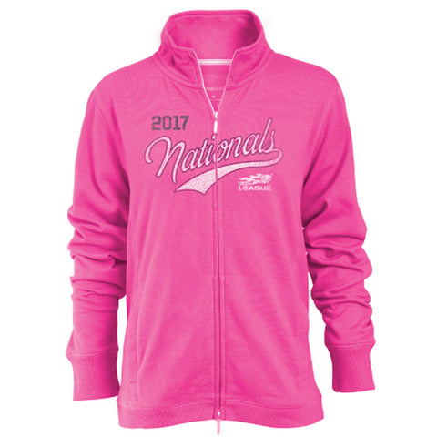 USTA LEAGUES 2017 National Championships Women's Pink Relaxed Fit Fleece Full-Zip Jacket