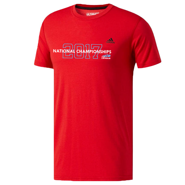 USTA LEAGUES 2017 National Championships Adidas Men's Red Short Sleeve Performance Tee