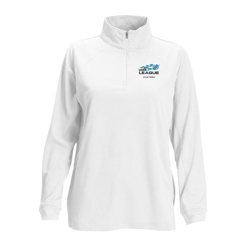 USTA LEAGUES 2017 National Championships Women's White Mesh Vansport Quarter Zip Tech Pullover