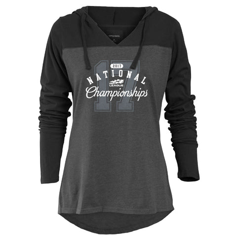 USTA LEAGUES 2017 National Championships Women's Knockout Charcoal Hoodie