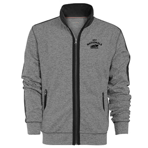 USTA LEAGUES 2017 National Championships Men's Grey Premium Poly-Tech Full-Zip Track Jacket