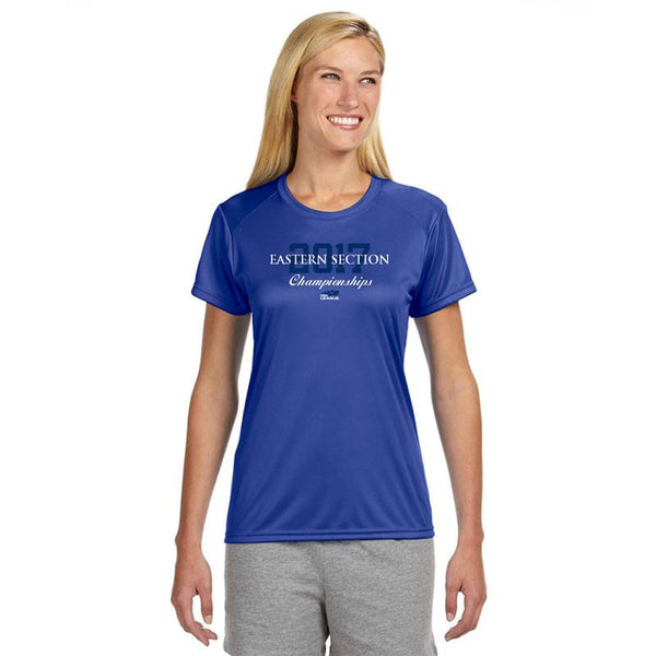 USTA Eastern 2017 Championships Women's Royal Short Sleeve Performance Tee