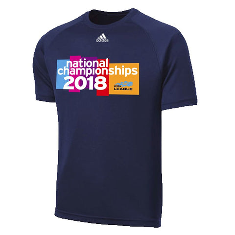 USTA Leauges 2018 National Championships Men's Navy Adidas Performance Tee