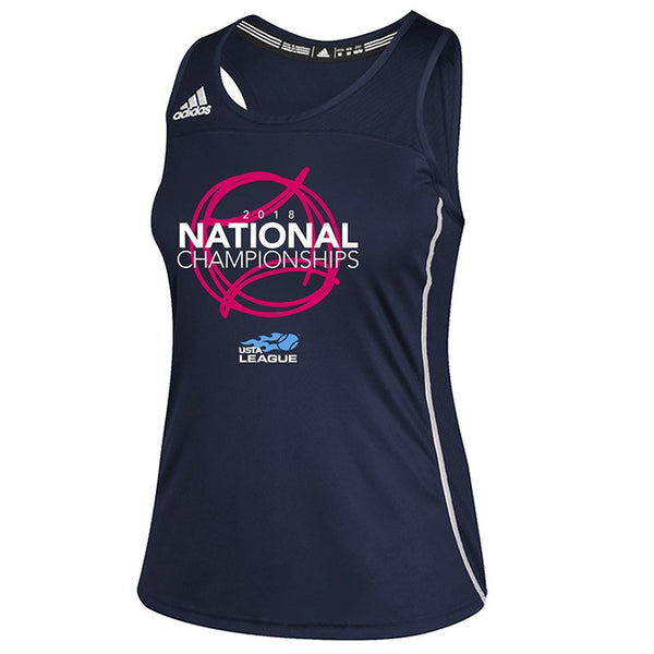 USTA Leagues 2018 National Championships Women's Navy Adidas Performance Tank