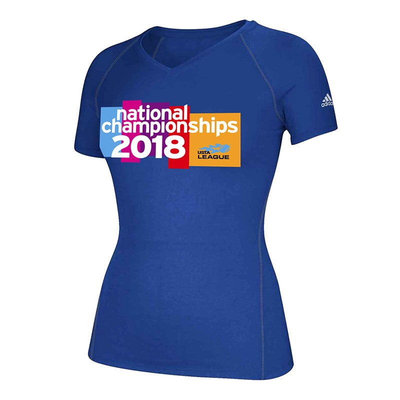 save off 19cd0 ad83e USTA Leagues 2018 National Championships Womens Royal Adidas Performance  Tee