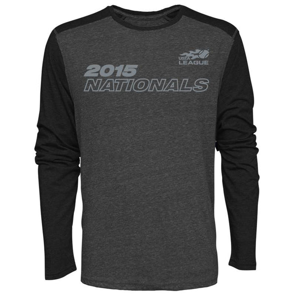 USTA LEAGUES 2015 National Championships Men's Black Long Sleeve Metro Cotton Tee