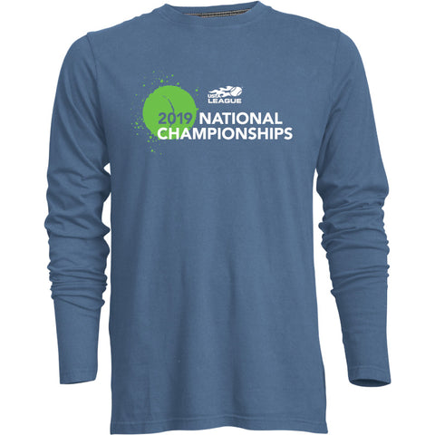 USTA LEAGUES 2019 NATIONAL CHAMPIONSHIPS GURU LONG SLEEVE BLUEJAY T-SHIRT