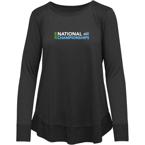USTA LEAGUES 2019 NATIONAL CHAMPIONSHIPS RAMPAGE BLACK LONG SLEEVE T-SHIRT