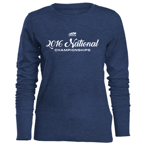 USTA LEAGUES 2016 National Championships Women's Marine Blue California Crew Sweatshirt