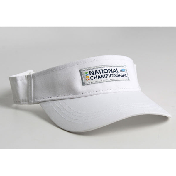 USTA LEAGUES 2019 NATIONAL CHAMPIONSHIPS WHITE VISOR