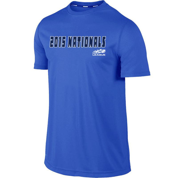 USTA LEAGUES 2015 National Championships Men's Royal Blue Short Sleeve Performance Tee