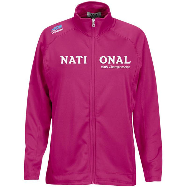 USTA LEAGUES 2015 National Championships Vantage Women's Berry Brushed Back Micro-Fleece Full-Zip Jacket
