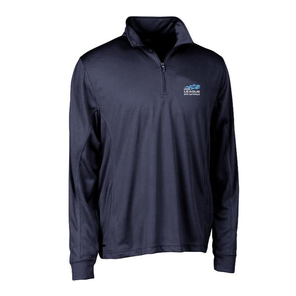 USTA LEAGUES 2015 National Championships Men's Navy Vansport Mesh Quarter Zip Tech Pullover